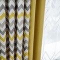 Vorhänge für Wohnzimmer Gelb Stripped Byetee Angepasst Schlafzimmer Vorhänge für Fenster Vorhänge Wohnkultur Cortinas