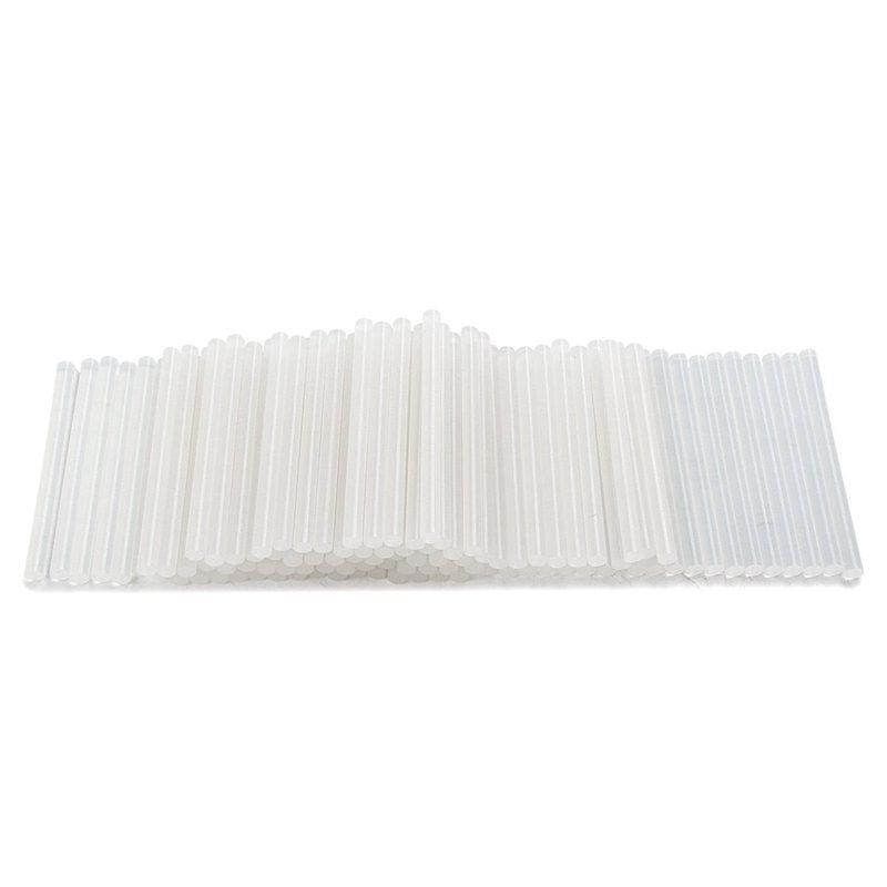 New 100 X 7mm Clear Hot Melt Glue Sticks Adhesive For Trigger Electic Pack Of 100
