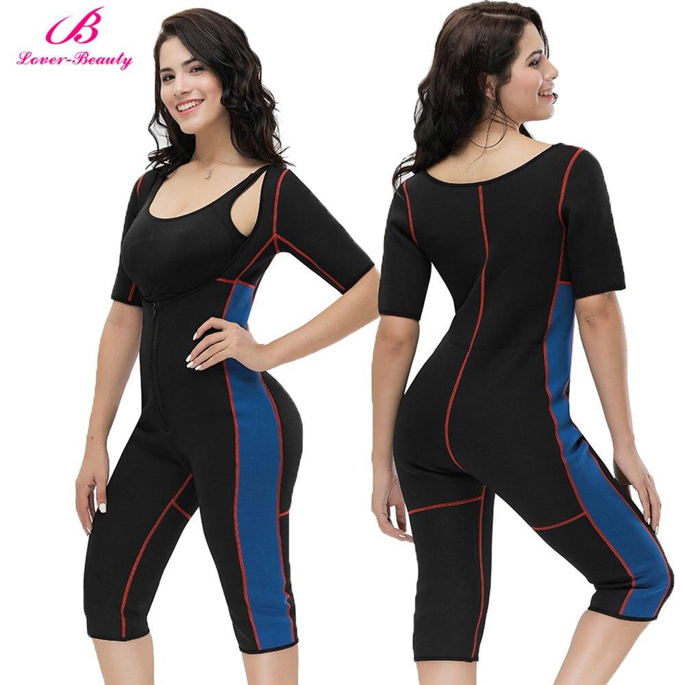 Lover Beauty Women Full Body Shaper Tummy Waist Trainer Weight Loss Shapewear Bodysuit Sweat Sauna Butt Lifter Neoprene Slimming
