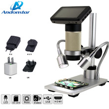 Andonstar ADSM201 inspection HDMI digital microscope camera for industry lab PCB repair and soldering