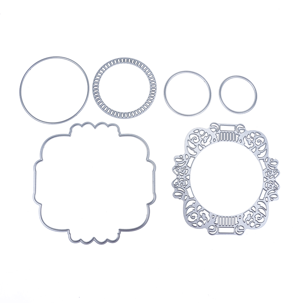 ③Círculo patrón metal Recortes de papel plantillas para DIY ...