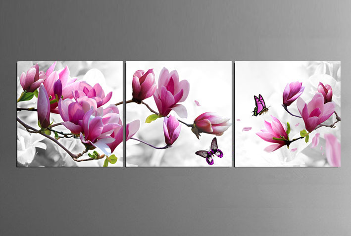 3 Piece Free Shipping Hot Sell Modern Wall Painting purple ...