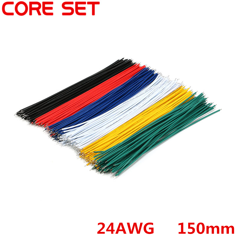 100pcs/Lot Tin-Plated Breadboard Jumper Cable Wire 150mm 24AWG For Arduino 6 Colors Flexible Two Ends PVC Wire Electronic купить в Москве 2019
