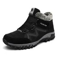 Winter Men Faux Suede Boots Casual Men Leather Moccasin Brand Winter Men Shoes Men Ankle Boots