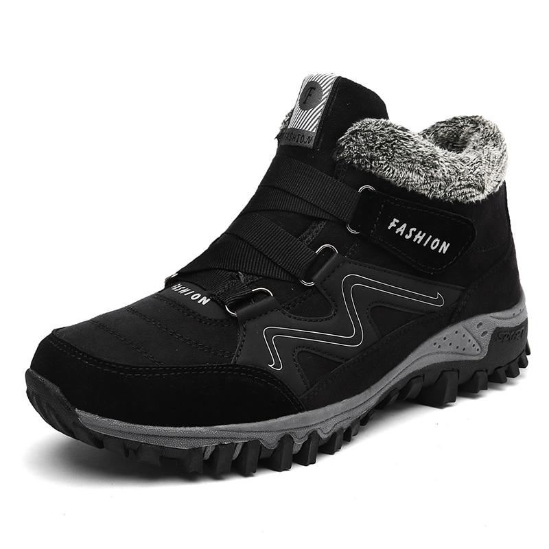 Winter Men Faux Suede Boots Casual Men Leather Moccasin Brand Winter Men Shoes Men Ankle Boots Cheap Cowboy Waterproof Boots winter men
