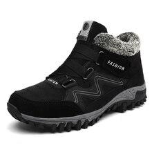 Зимние Для мужчин искусственная ботинки из замши Повседневное Для мужчин кожаные мокасины брендовые зимние Мужская обувь мужские полусапоги дешевые ковбой Водонепроницаемый Сапоги и ботинки для девочек