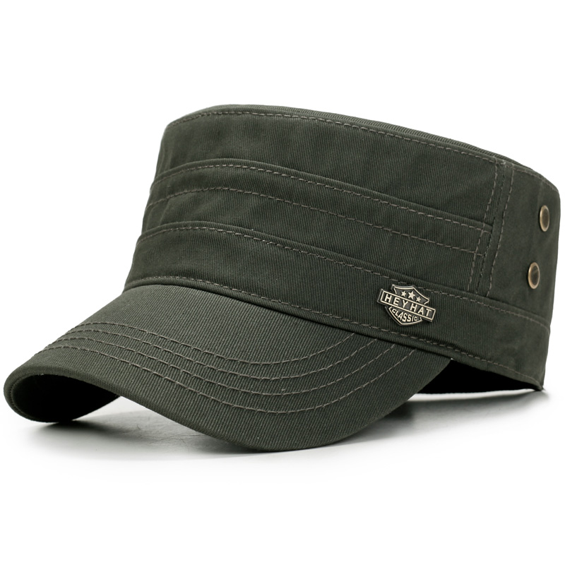MNKNCL 2018 New Men s Cotton Flat Top Baseball Cap Twill Army Millitary  Corps Hat Cap Visor-in Baseball Caps from Apparel Accessories on  Aliexpress.com ... e2849b8e914