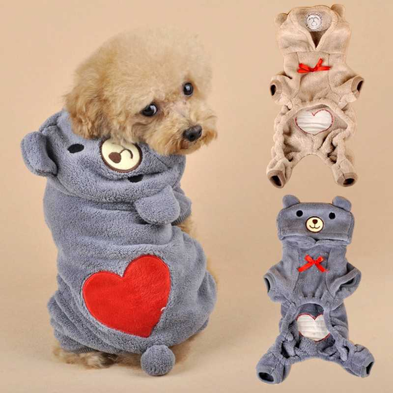 5c49790f1 Detail Feedback Questions about 2019 Stylish Pet Chihuahua Dog Clothes With  Red Heart Coral Fleece Clothes For Small Dogs Cats Coats Jackets Puppy  Overalls ...