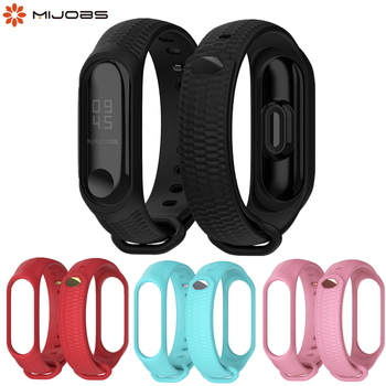 цена на Mi Band 3 4 Silicone Wrist Strap Accessories for Xiaomi Mi Band 3 4 Smart Watch Bracelet Band3 Sport Wristbands Miband 3 Band
