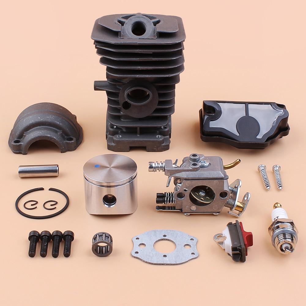 40mm Cylinder Piston Pan Carburetor Air Filter Kit Fit Husqvarna 142 141 137 136 Gas Chainsaw Spares Rebuild Set