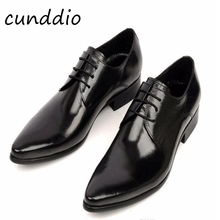 New Fashion Italian designer formal mens dress shoes genuine leather black luxury wedding shoes men flats office for male