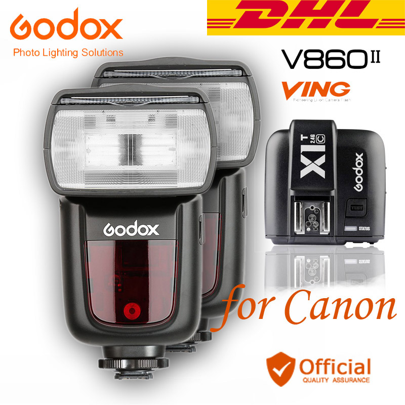DHL 2xGodox V860II-C Speedlite GN60 HSS 1/8000s TTL Flash+Wireless Transmitter for Canon 5D 6D 7D MARK II III IV 80D 1DX 5Ds R new lp e6 2650mah 7 2v digital replacement camera battery for canon eos 5d mark ii 2 iii 3 6d 7d 60d 60da 70d 80d dslr eos 5ds