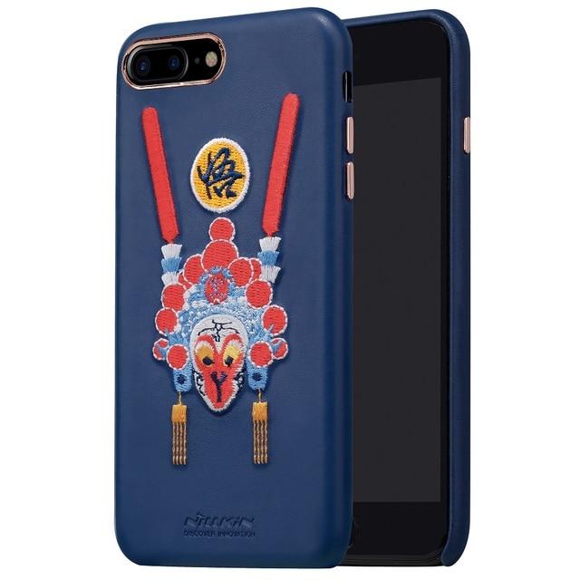 Nillkin brocade 중국 스타일 케이스 아이폰 7 커버 pu 가죽 빈티지 뒷면 커버 아이폰 7 플러스 케이스 애플 4.7 & 5.5