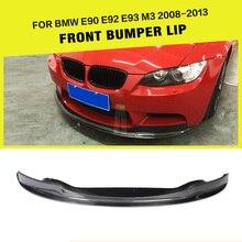 Передний бампер спойлер разветвители фартук для BMW E90 E92 E93 M3 бампер 2008-2013 углеродное волокно/FRP