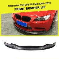 Carbon Fiber / FRP Car Front Bumper Lip Spoiler Guard Chin Splitters Apron for BMW E90 E92 E93 M3 Bumper 2008 2013