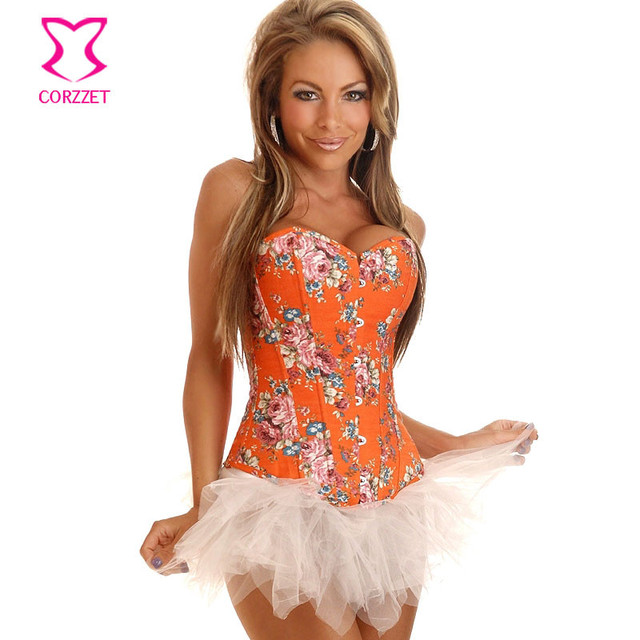 Corzzet flora corsé de overbust corsé atractivo del estilo de china vintage denim deshuesado acero corsés fajas body bustier corselet gótico