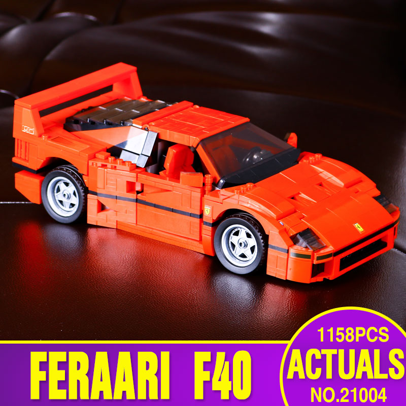 2016 1158pcs font b LEPIN b font 21004 F40 Sports Car Model Building Blocks Kits Minifigures
