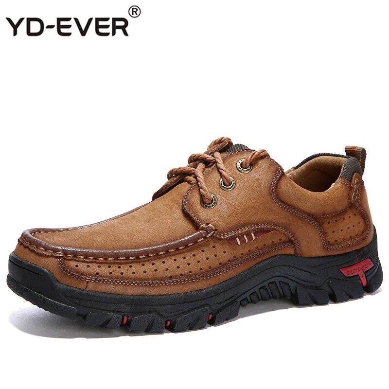 2019 Echtem Leder Walking Casual Männlichen Schuhe Für Männer Adult Schuhe Qualität Klassische Fracht Arbeit Sicherheit Turnschuhe 3238 Gute QualitäT