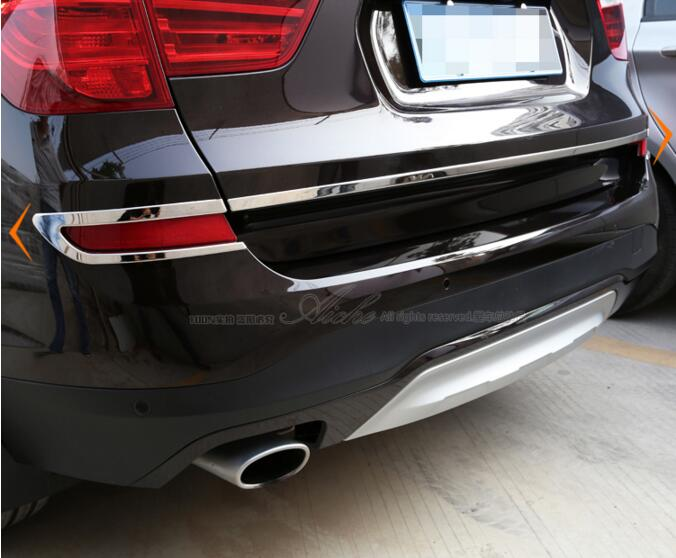 Car Tail Door Trunk Lid Molding & Fog lamp Light Cover Trim FOR BMW X3 F25 2014 2015 2016 2017 Free by EMS
