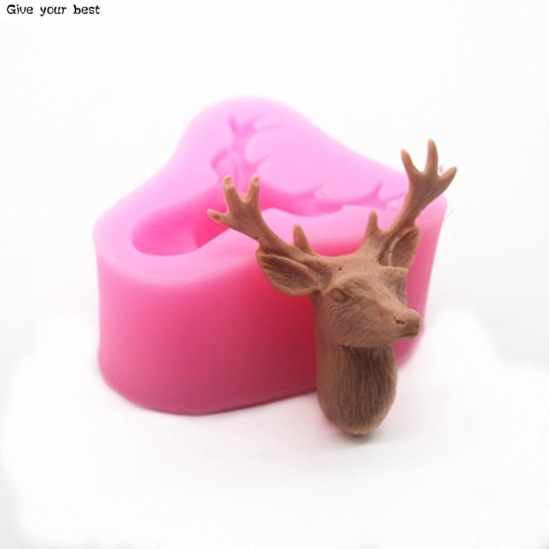 3D tête de cerf moule noël cerf Fondant gâteau Silicone moules - Cuisine, salle à manger et bar - Photo 6