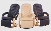 Modern Leatehr Recliner Chair 360 Degree Swivel Living Room Furniture Reclining Armchair Folding Lazy Chair Recliner Wood Base
