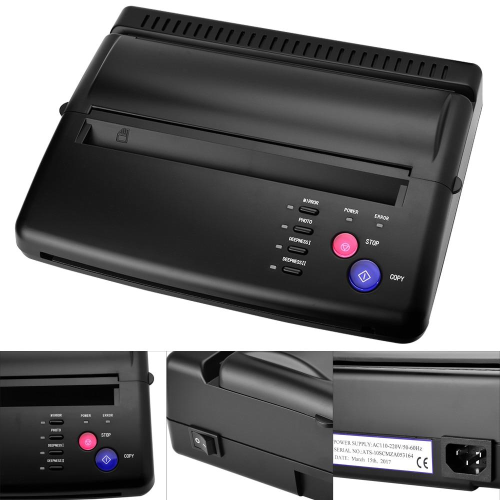Tattoo Transfer Machine Printer Drawing Thermal Copy Stencil Maker Copier For Papier Transfert Tatouage Supply Permanet Makeup