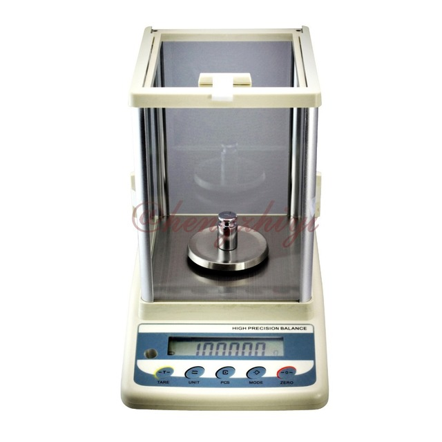 300g x 0.001g High Precision Digital Electronic Laboratory Weighing Balance Scale w Germany Senor + Wind Shield +RS232 Interface