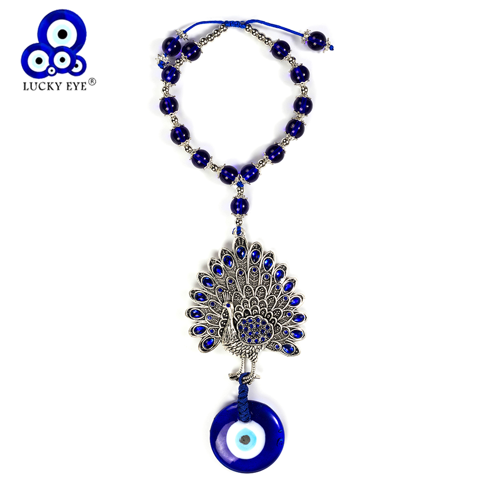 Lucky Eye Peacock Car Keychain Wall Hanging Evil Eye Peacock Pendant Wall Hanging Ethnic Jewelry Gifts EY5222Lucky Eye Peacock Car Keychain Wall Hanging Evil Eye Peacock Pendant Wall Hanging Ethnic Jewelry Gifts EY5222