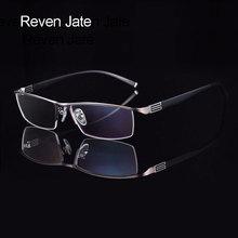 Reven Jate Hợp Kim Titan Trước Vành Mắt Kính Gọng Dẻo Chùa Tay Bán Không Gọng Kính Khung Với 3 Tùy Chọn màu Sắc
