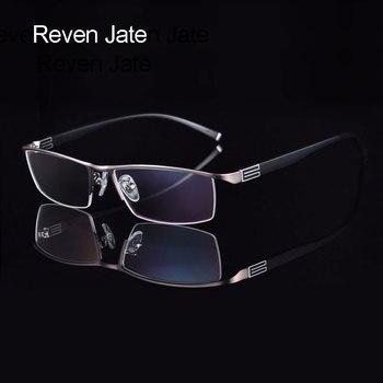 Reven Jate Titan Legierung Front Felgen Brillen rahmen mit Flexible Tempel Arme Semi-Randlose Brille Rahmen mit 3 Optional farben