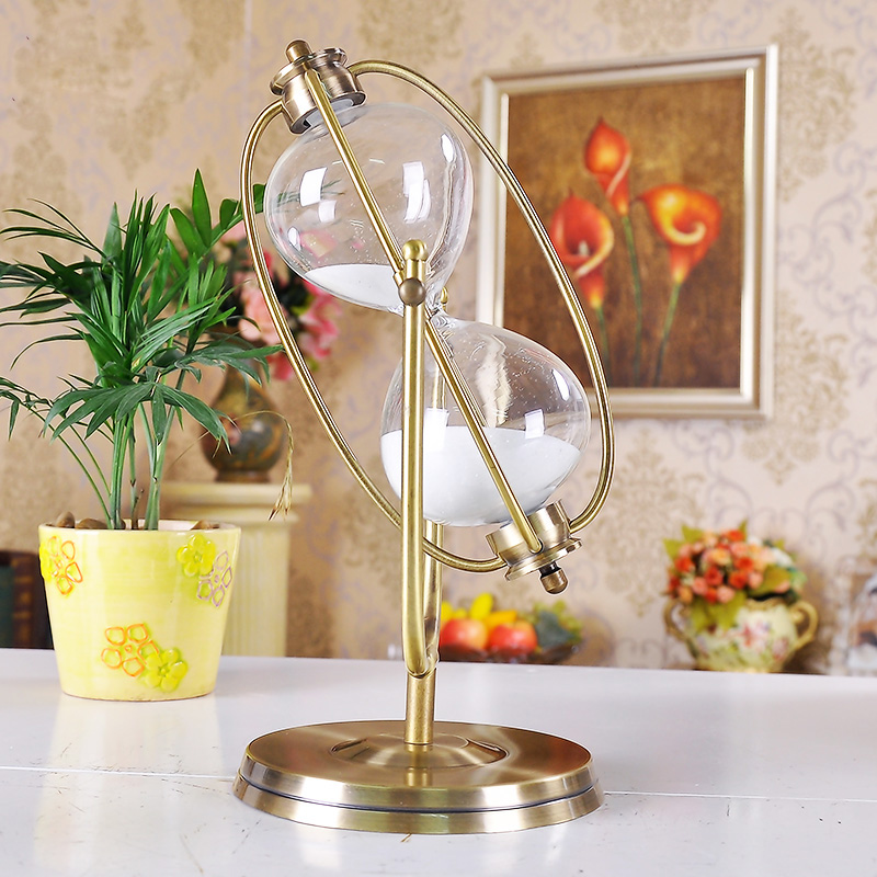Hours Hourglass Sea Figurine Hourglass Timer Wall Decoration Statue Creative Iron Crafts Home Decoration Accessories R1639