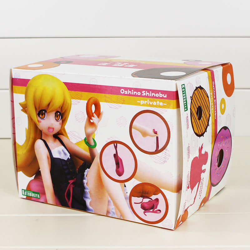 10cm Oshino Shinobu Anime Figure Oshino Shinobu 1/8 scale painted cute donut shape Ver. PVC Action Figure Collectible Model Toys zxz 23cm anime nisekoi kirisaki chitoge 1 8 cute sexy girl pvc figure toys action figure toys collectible model gifts