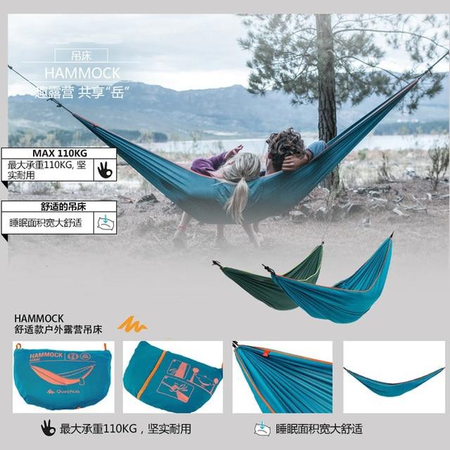 100% Polyester Fabric Garden Outdoor Sleeping Bed Portable Parachute Hammock Travel Hamac Camping Double Person Outdoor Hammock