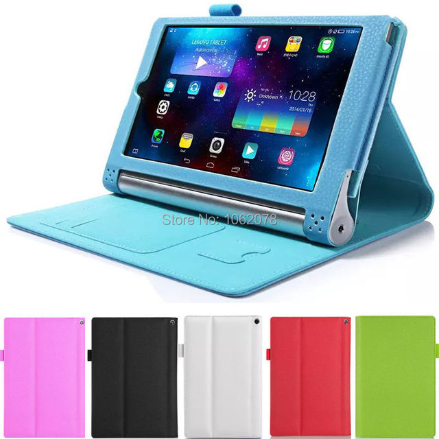 "For 8"" Lenovo YOGA Tablet 2-830F Tablet PU Leather Strap Card Slot Case Cover WY"