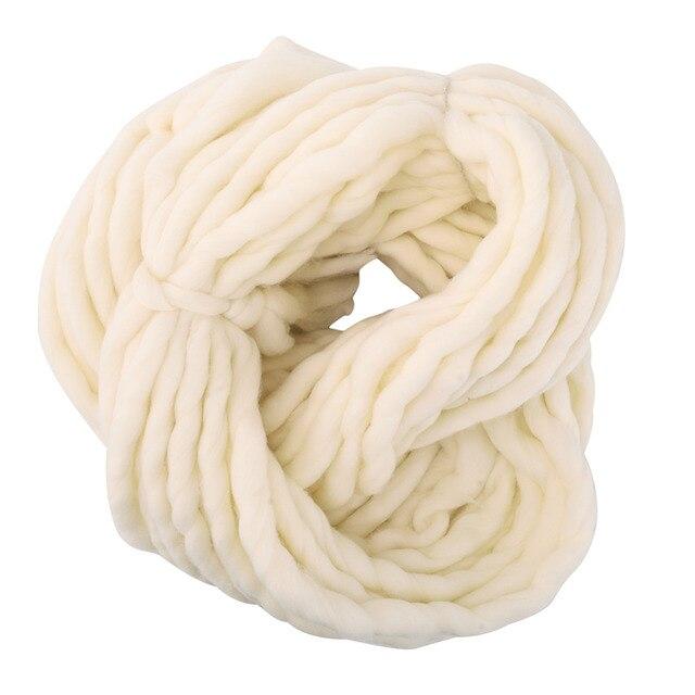 Nueva 20 colores suave lana Roving voluminoso grueso grande Hilado ...