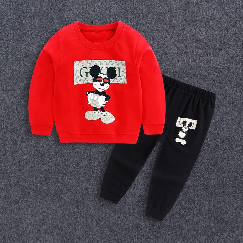 2017 Baby Boy Clothes winter Cartoon Boy Clothing Set Long sleeves Leisure boys t shirt+ Pant 2pcs kids clothes set eleganzza
