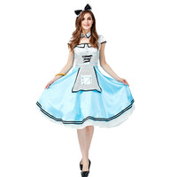Alice In Wonderland costume for women adult alice cosplay costume blue fancy dress fantasy Halloween costumes for women