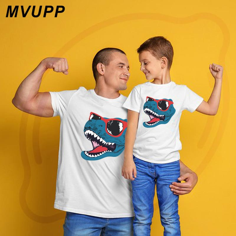 09372888e8 Dinosaur cool family look mother daughter clothes father son matching  outfits daddy mommy baby fashion mom