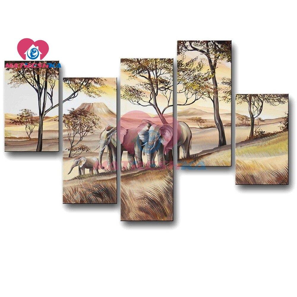 5D diamant mosaïque diamant broderie paysage peinture triptyque modulaire photos strass ensemble pour broderie point pour la maison