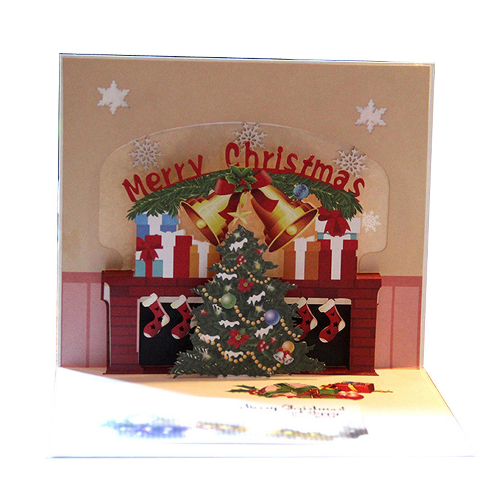 Perfect-Christmas Cards Merry 3D Cards Wedding Lover Happy Birthday Anniversary Greeting Cards convite the Christmas gift