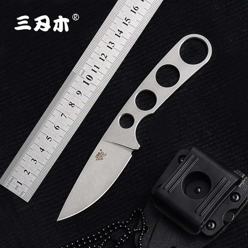 цена на Sanrenmu 7130 Fixed Knife 7Cr17 One Keel Steel outdoor camping survival tactical hunting knife bushcraft knife With KYDEX Sheath