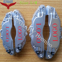 Buy KUNBABY 4 Pcs ABS Plastic Silver with red letter Car Auto 3D Word Style Disc Brake Caliper Covers Front And Rear Size M+L