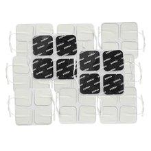 DOMAS coussinets délectrode dix réutilisables, unité carrée, lot de 40 pouces 2x2 pouces