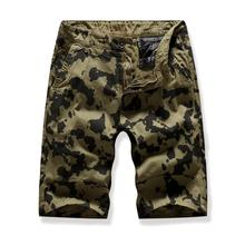 Camouflage Board Shorts For Men Casual Multi-pocket Tooling beach Cargo Navy green Gray