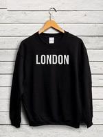 London Felpa I love london felpa london viaggi Ponticello Inghilterra top Britannico Ponticello di alta qualità nave di goccia