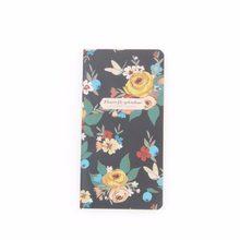 48K Beige fleur poche cahier journal livre exercice Mini cahier bloc-notes Papelaria Escolar 173*90mm, 24 feuilles/48 pages