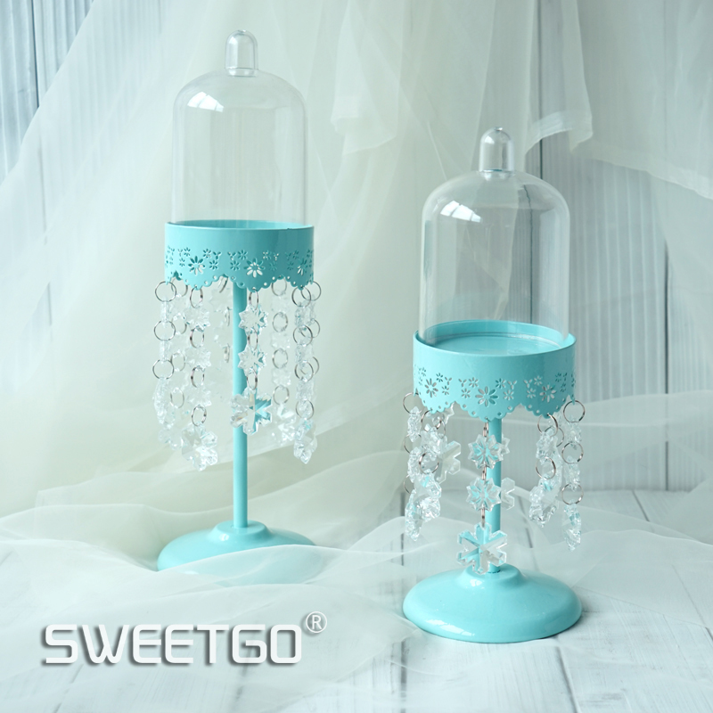 Crystal cupcake stand high feet dessert holder PC dome for wedding cake tools bakeware dessert table Tiffany baby shower
