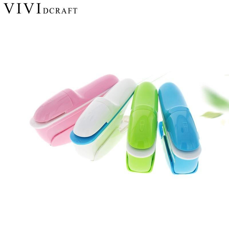 Vividcraft 1pc Kawaii Mini Stapler School Office Safe Staple Free Stapler 10 Sheets Office Paper Binding Stapleless Staplers mini stainless steel stapler staple set red