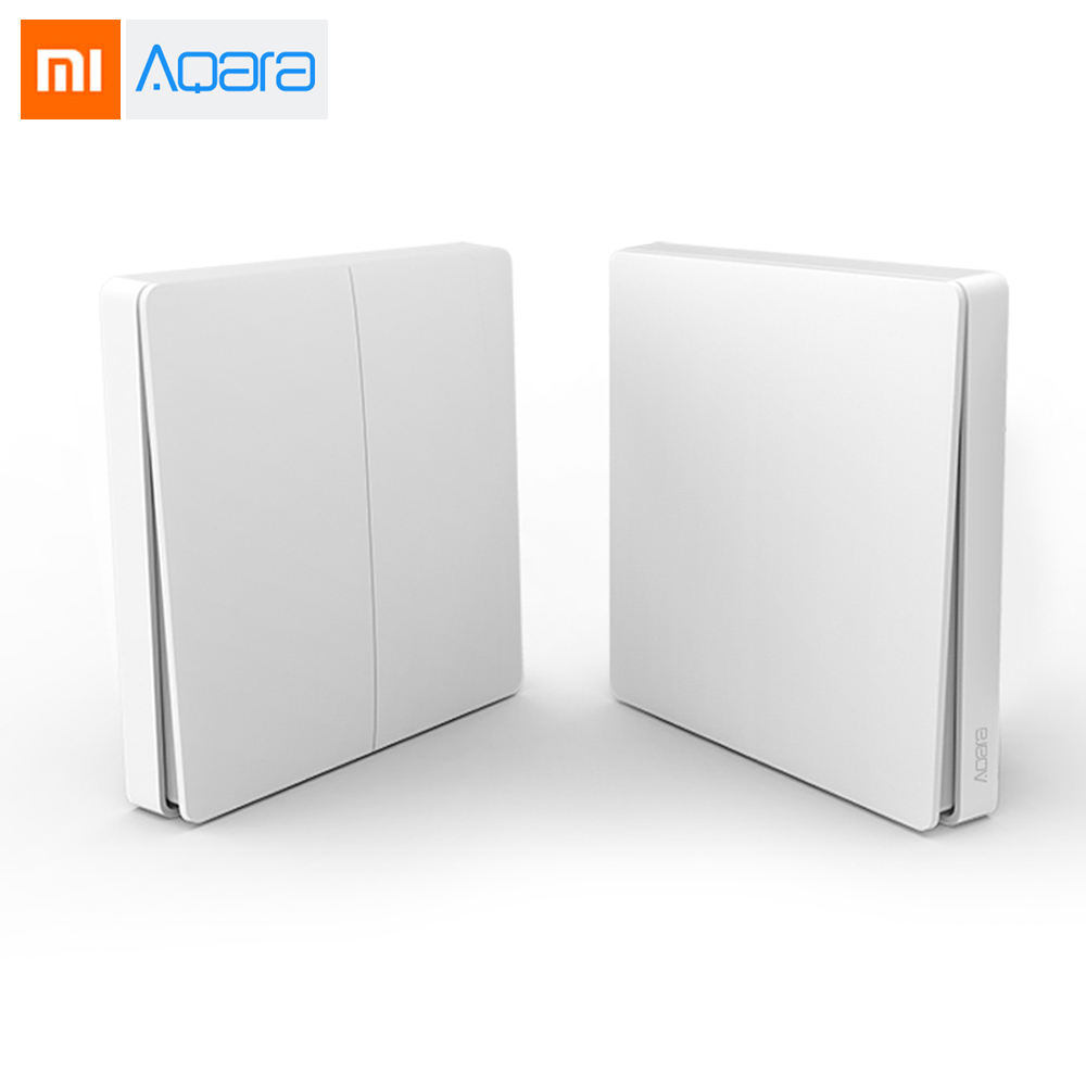 Newest Xiaomi Aqara Wireless Key Smart Light Control ZiGBee WiFi Wall Switch Via Smarphone APP Remote цена и фото