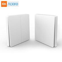 Newest Xiaomi Aqara Wireless Key Smart Light Control ZiGBee WiFi Wall Switch Via Smarphone APP Remote